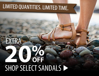 Select Sandals:  Extra 20% Off