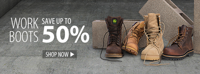 Save up to 50% on work boots