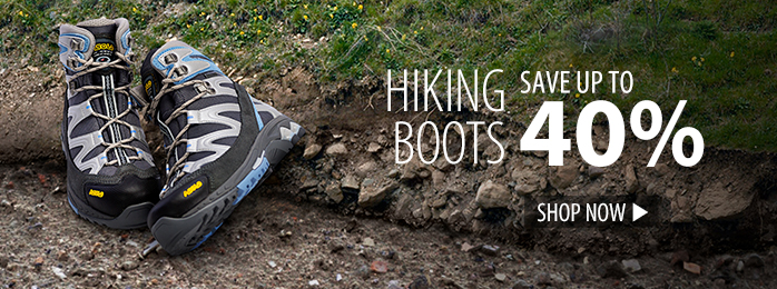 save up to 40% on hiking boots