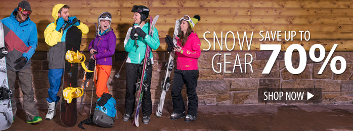 Ski & Snowboarding Gear – save up to 70%