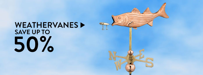 Weathervanes – save up to 50%