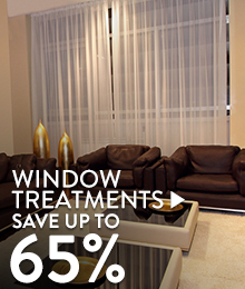 Window Treatments – save up to 65%