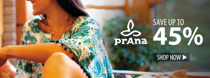Save up to 45% on prAna