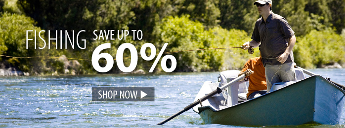 Fishing – save up to 60%