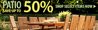 Patio – save up to 50%