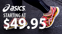 Asics – starting at $49.95