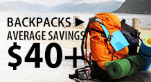 Backpacks – average savings $40+