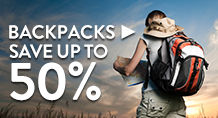 Backpacks – save up to 50%