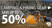 Camping & Hiking Gear – save up to 50%