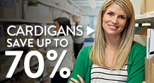 Cardigans – save up to 70%