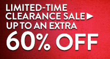 Clearance Sale - up to an extra 60% off