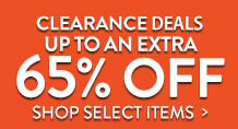 Clearance - up to an extra 65% off select items