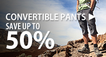 Convertible pants – save up to 50%
