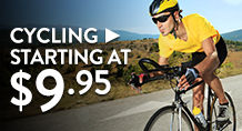 Cycling – starting at $9.95