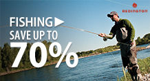 Fishing – save up to 70%