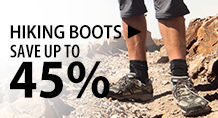 Hiking Boots – save up to 45%