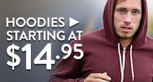 Hoodies - starting at $14.95