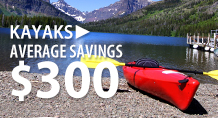 Kayaks – average savings $300