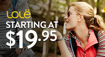 Lole – starting at $9.95
