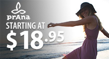 Prana – starting at $18.95