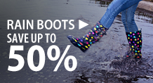Rain boots – save up to 50%