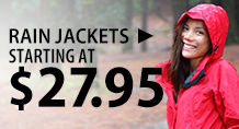 Rain Jackets – starting at $27.95