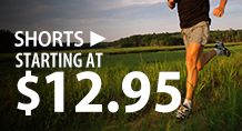 Shorts – starting at $12.95