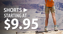 Shorts – starting at $9.95