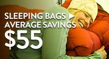 Sleeping Bags - average savings $55