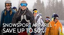 Snowsport Apparel - save up to 50%