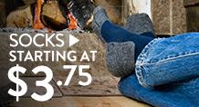Socks - startingat $3.75