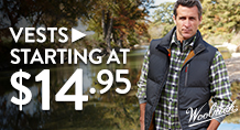 Vests - starting at $14.95