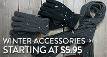 Winter Accessories - starting at $5.95