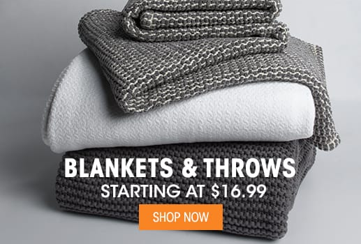 Blankets & Throws - Starting at $16.99