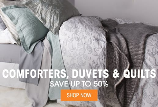 Duvets, Comforters & Quilts - Save up to 50%