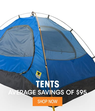 Tents - Average Savings of $95
