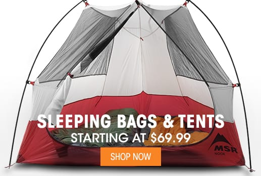 Sleeping Bags & Tents - Starting at $69.99