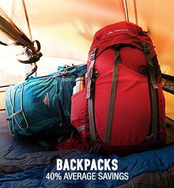 Backpacks - 40% average savings