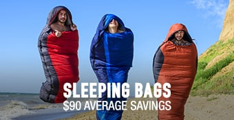 Sleeping Bags - average savings $90