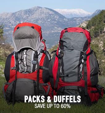 Packs & Duffels - save up to 60%
