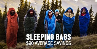 Sleeping Bags $90 average savings