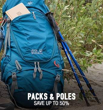 Packs & Poles - save up to 50%