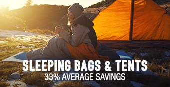 Sleeping Bags & Tents - 33% average savings