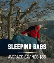 Sleeping Bags - average savings $55