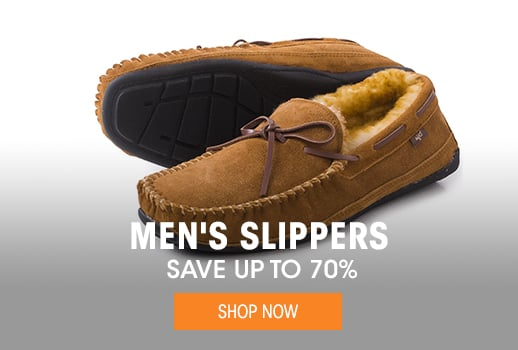 Men's Slippers - save up to 70%