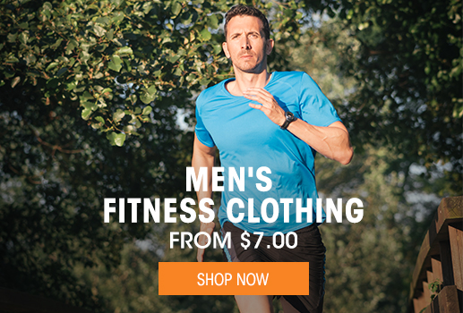 Men's Fitness Clothing - from $7.00