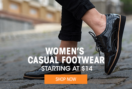 Women's Casual Footwear - startng at $14