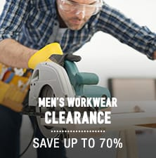 Men's Work Apparel Clearance- save up to 70%
