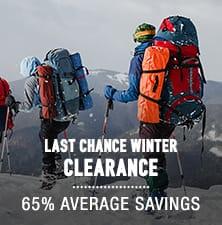 Last Chance Winter Clearance - average savings 65%