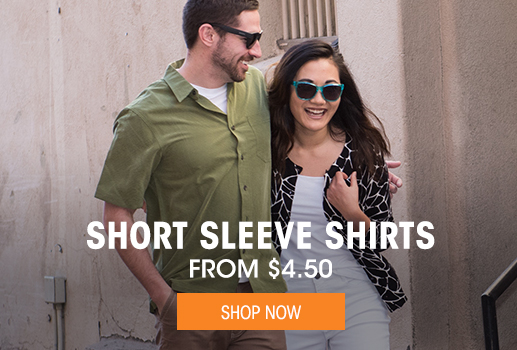 Short Sleeve Shirts - From $4.50